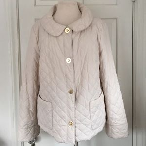 JNY quilted gold clasp round collar puffer jacket